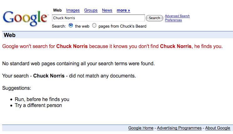 Nourrice tch que - Chercher chuck norris sur google ...
